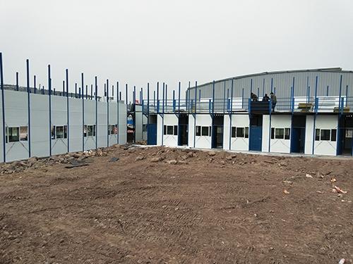 浙江皮革工厂活动房安装