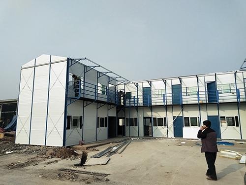 物流基地临时用房彩钢活动房安装